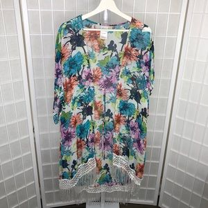 Catalina Floral Print Swimsuit CoverUp Size Large